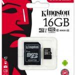 Memoria Micro SD Kingston   16 GB Tarjeta de Memoria Clase 10