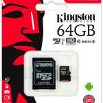 Memoria Micro SD HC Clase 10 de 64GB Kingston
